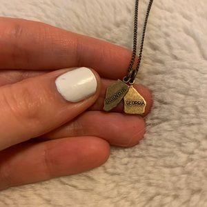 Georgia & Illinois State Necklace
